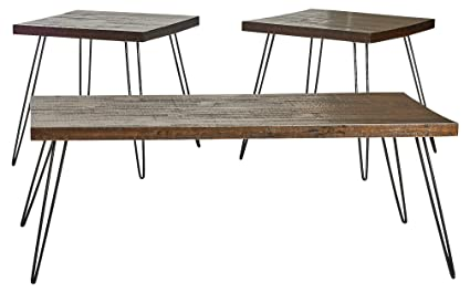 Amazon.com: Belmont Home Reclaimed Wood and Metal Tables (Set of 3 ...