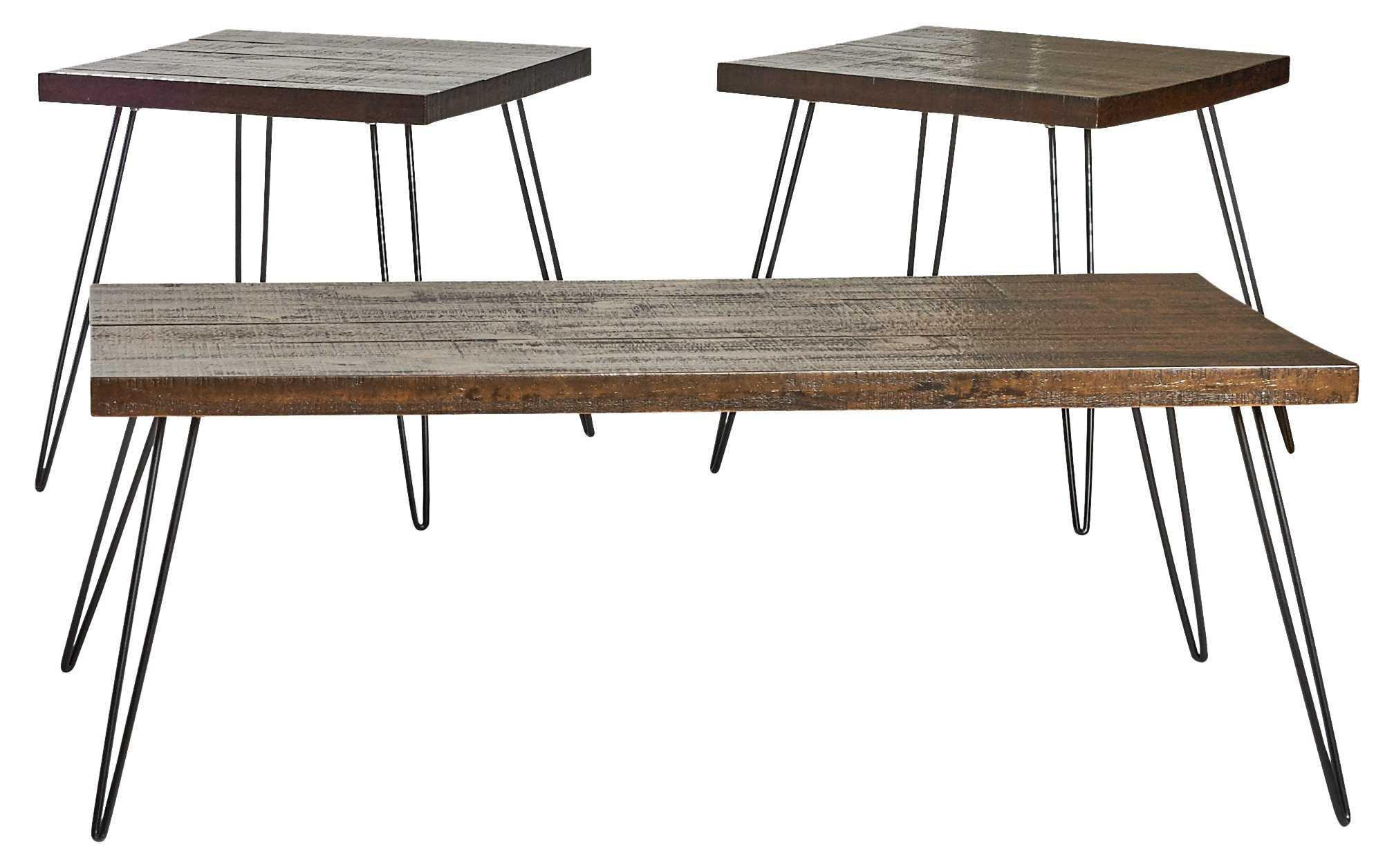 Belmont Home Reclaimed Wood and Metal Tables (Set of 3)