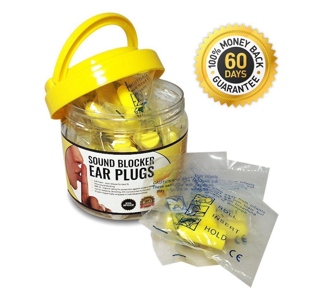 Sound Blocker Ear Plugs Block Out Snoring for Peaceful ...