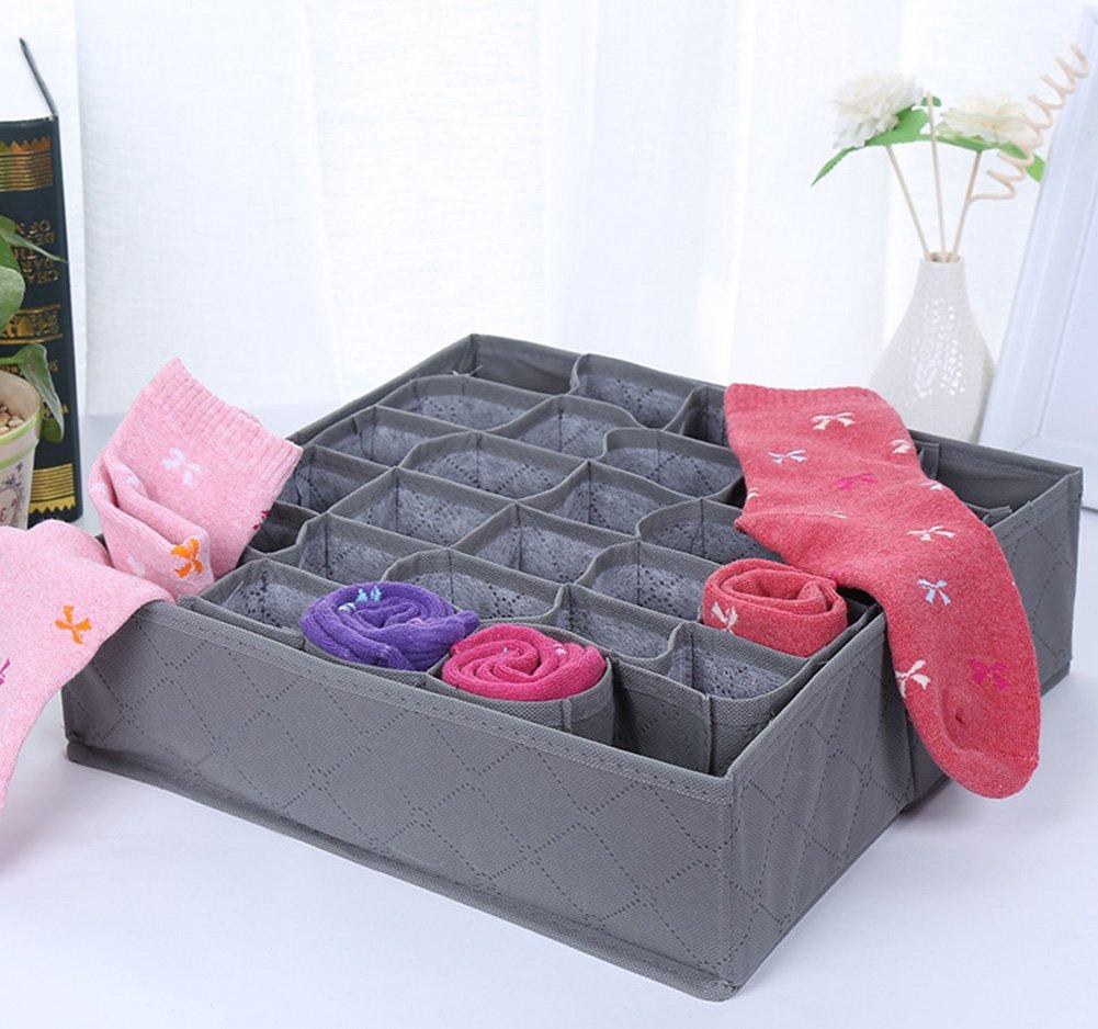 Da.Wa Foldable Closet Underwear Storage Organizer Drawer Divider for Underwear Bras Stocking Socks
