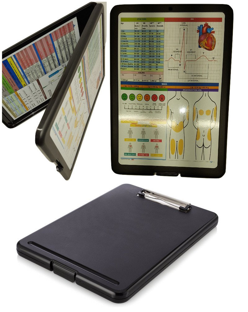 Nursing Clipboard -Great for clinical rotations (BLACK)