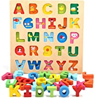 Deals on Jamohom Wooden Alphabet Puzzles for Toddlers