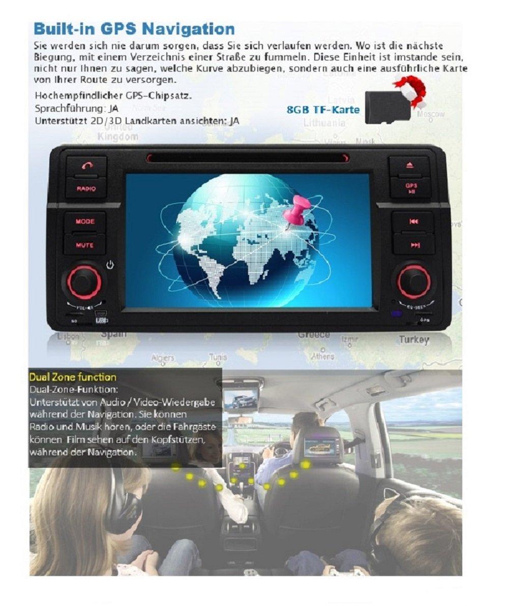 Was Ist Eine Tf Karte.Pumpkin 7 Inch Touch Screen Car Stereo Moniceiver Mp3 For Bmw E46