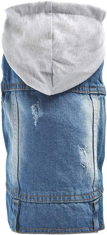 per cuccioli e cani di piccola taglia gilet e cappuccio OSPet Giacchina in jeans