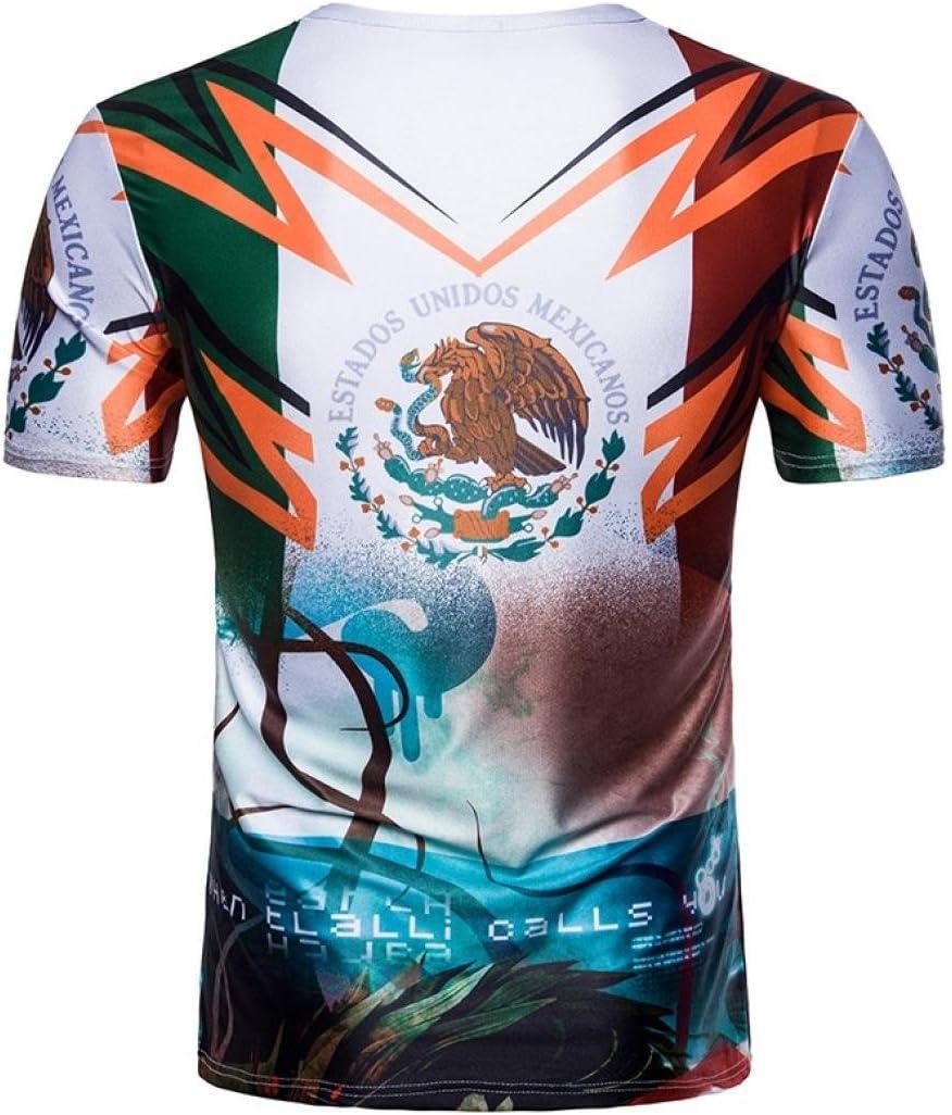SUKEQ Camiseta de fútbol de México con bandera de México para FIFA World Cup 2018, Large, Blanco: Amazon.es: Deportes y aire libre