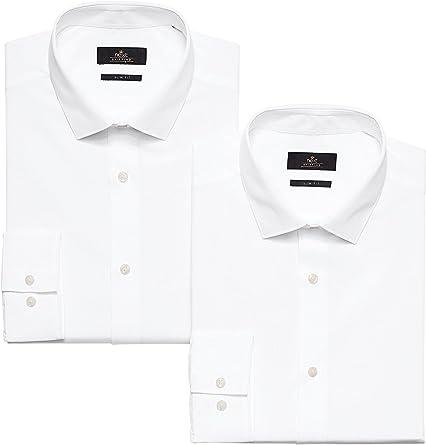 next Hombre Pack De Dos Camisas Lisas Corte Regular Puño Doble Blanco EU 53 Long (UK 21L): Amazon.es: Ropa y accesorios