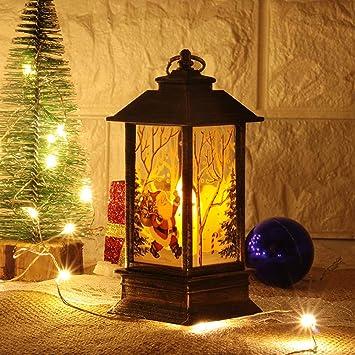 XZ Festival de Navidad llevada luz de la linterna, lámpara de mesa ...