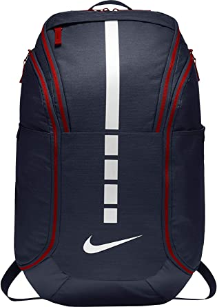 Buena voluntad Peluquero Tomate  Amazon.com: Nike Hoops Elite Hoops Pro Basketball Backpack Obsidian  Blue/Red/White: Computers & Accessories