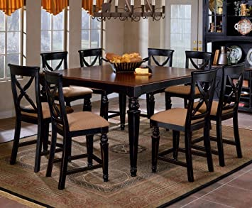Beau Amazon.com   Hillsdale Northern Heights 9 Piece Counter Height Dining Set    Table U0026 Chair Sets