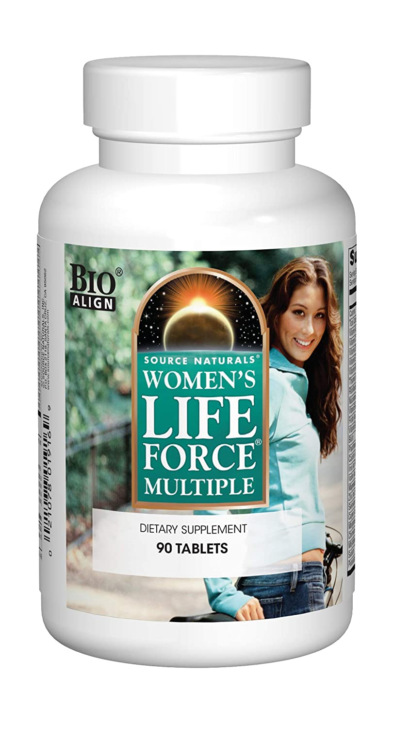 Source Naturals Women's Life Force Multiple Daily Multivitamin & Immune Health Supplement - 13 Essential Vitamins, Herbs, Minerals, Nutrients & Antioxidants - 90 Tablets