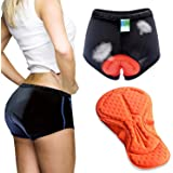 Twotwowin Women's 3D Padded Cycling Underwear Shorts Breathable Lightweight Bike Shorts