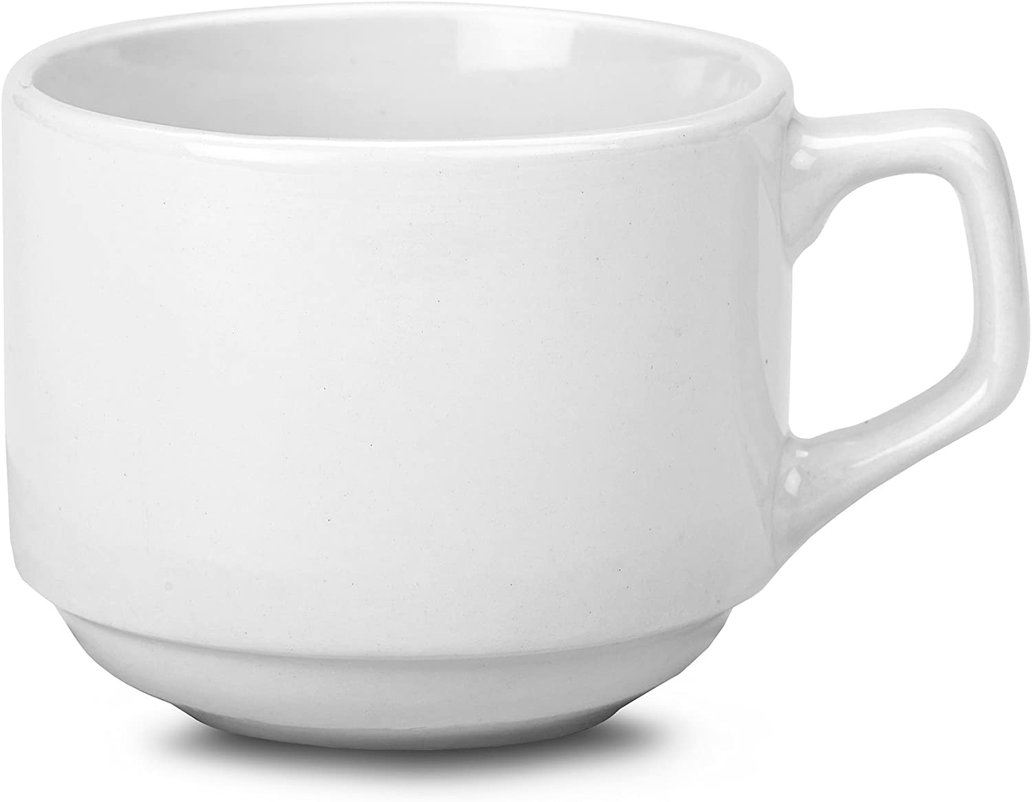 RG Tableware Stacking Cups 7oz 200ml Set of 6 White Porcelain Stackable Tea Cups