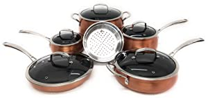 Belgique (High End Quality Home Cookware) 11 Piece Pot And Pan Sets