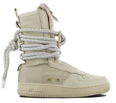 sports shoes 4c389 d7d1b NIKE SF Air Force High Top Womens Boots Rattan/Rattan/White aa3965-200