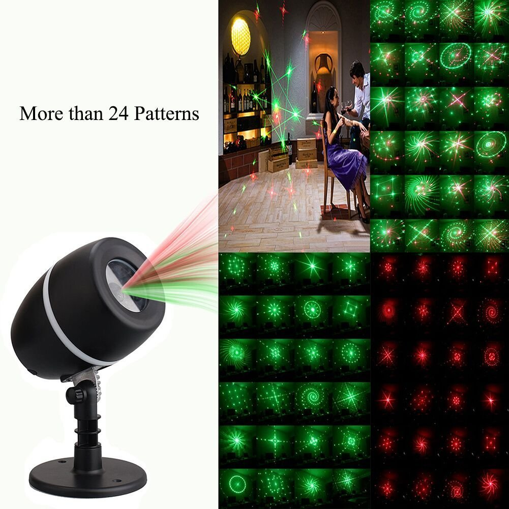 Party Waterproof Landscape Projector Lights for Christmas Halloween JINGOU-09 Holiday Style1 Garden Lawn Wall Decorations JINGOU Projector Light 24 Patterns Star Show Projection Lamp with Auto Timer