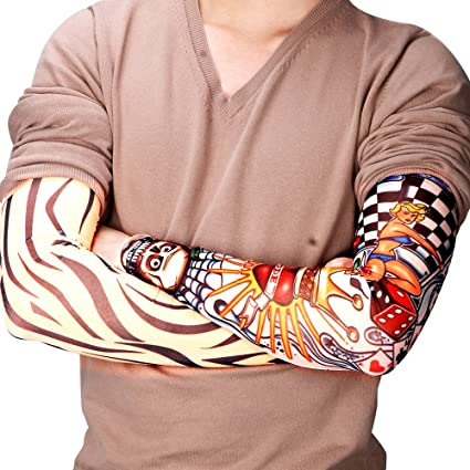 6 x brazo Gemelos mango sintético temporal falso Tattoo tatuaje ...