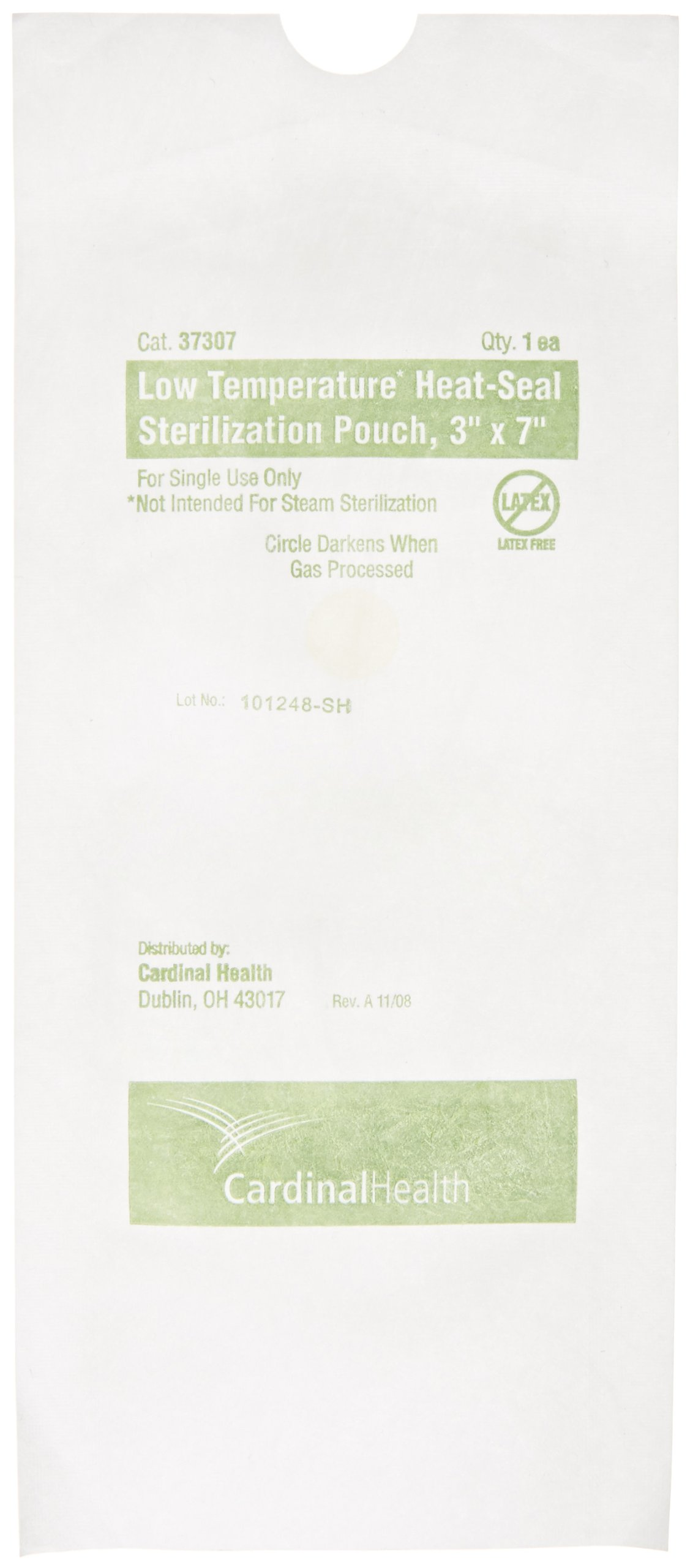 Cardinal Health 37307 Plastic Low Temperature Heat Seal Pouches without Indicator, 3'' Width x 7'' Length (Case of 1000)