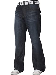 NEW MENS JEANS BOOTCUT FLARE BLUE FLARED WIDE LEG WORK KING PLUS ALL WAIST SIZES