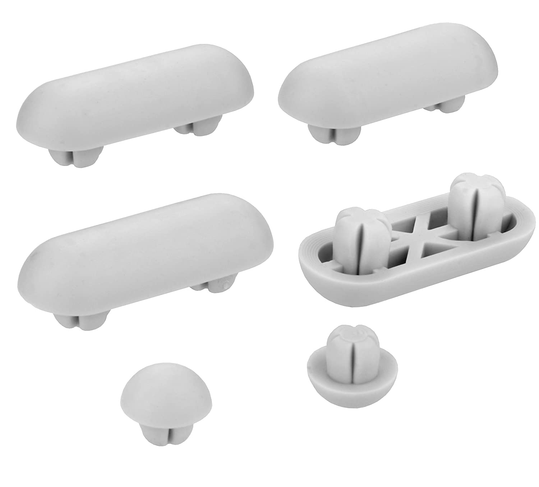 Cornat TEC365023 Kit d'Amortisseurs avec frein de chute pour abattant WC Art of Acryl