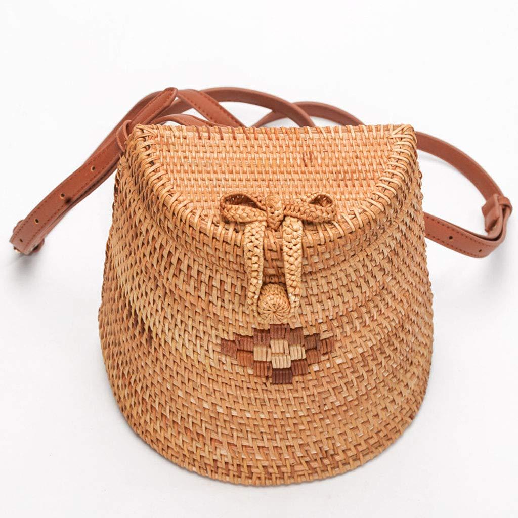 Women's Bag, Fashion Bag - Summer Women's Bag - Hand-Woven Rattan Bag - Crossbody Beach Bag by BHM (Image #1)