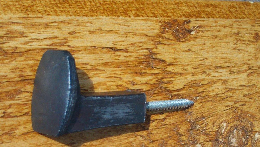 /45/mm Hierro, ABRIGO de gancho de u/ñas, percha para proyectos de DIY R/ústico Railroad Spike con tornillo /