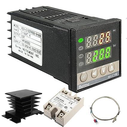lennonsi Controlador de temperatura inteligente 100-240v Rango de estabilidad 0-999 grados REX