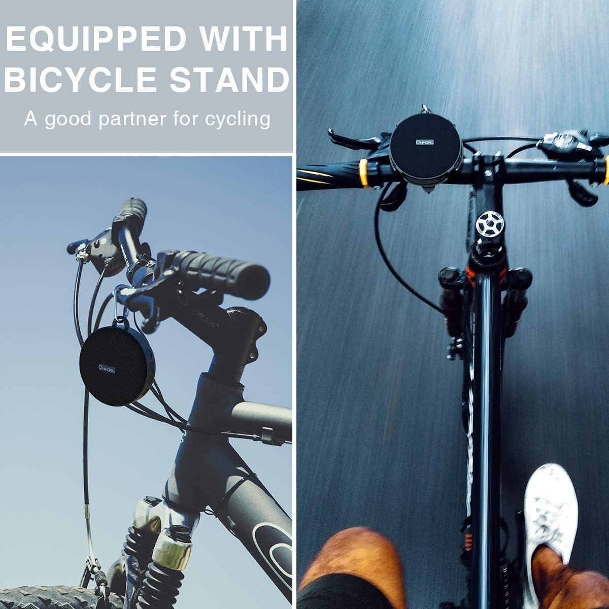 Onforu Altavoz Portátil Bluetooth Bicicleta, Speaker Inalámbrico Bici con Sonido Estéreo, Bluetooth 5.0 y 10 Horas de Reproducción IPX7 Impemeable, Mini Altavoz para Deporte Ciclismo al Aire Libre: Amazon.es: Electrónica