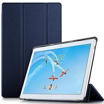 IVSO Funda Carcasa para Lenovo Tab P10, Slim PU Protectora Carcasa Cover para Lenovo Tab P10 10.1 Pulgadas, Azul