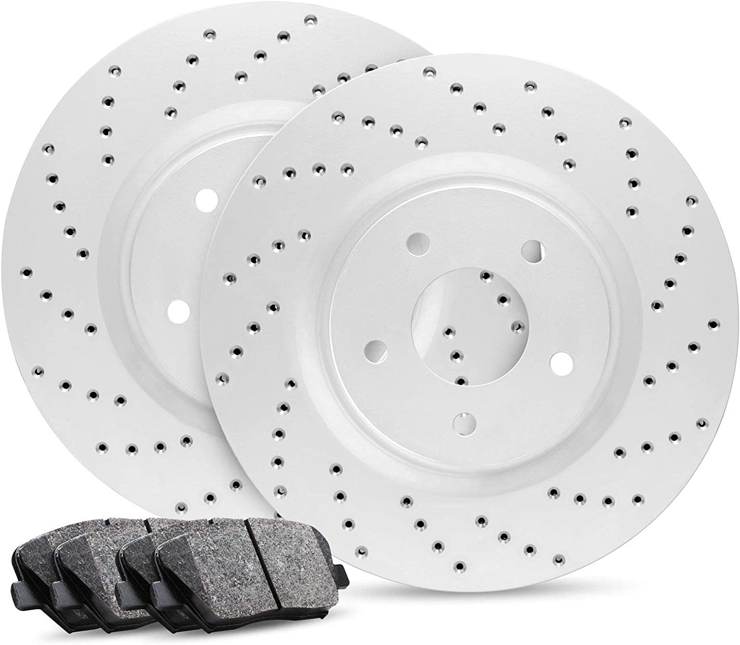 Fits 2010-2015  Genesis Coupe Front Rotors w//Ceramic Pads OE Brakes