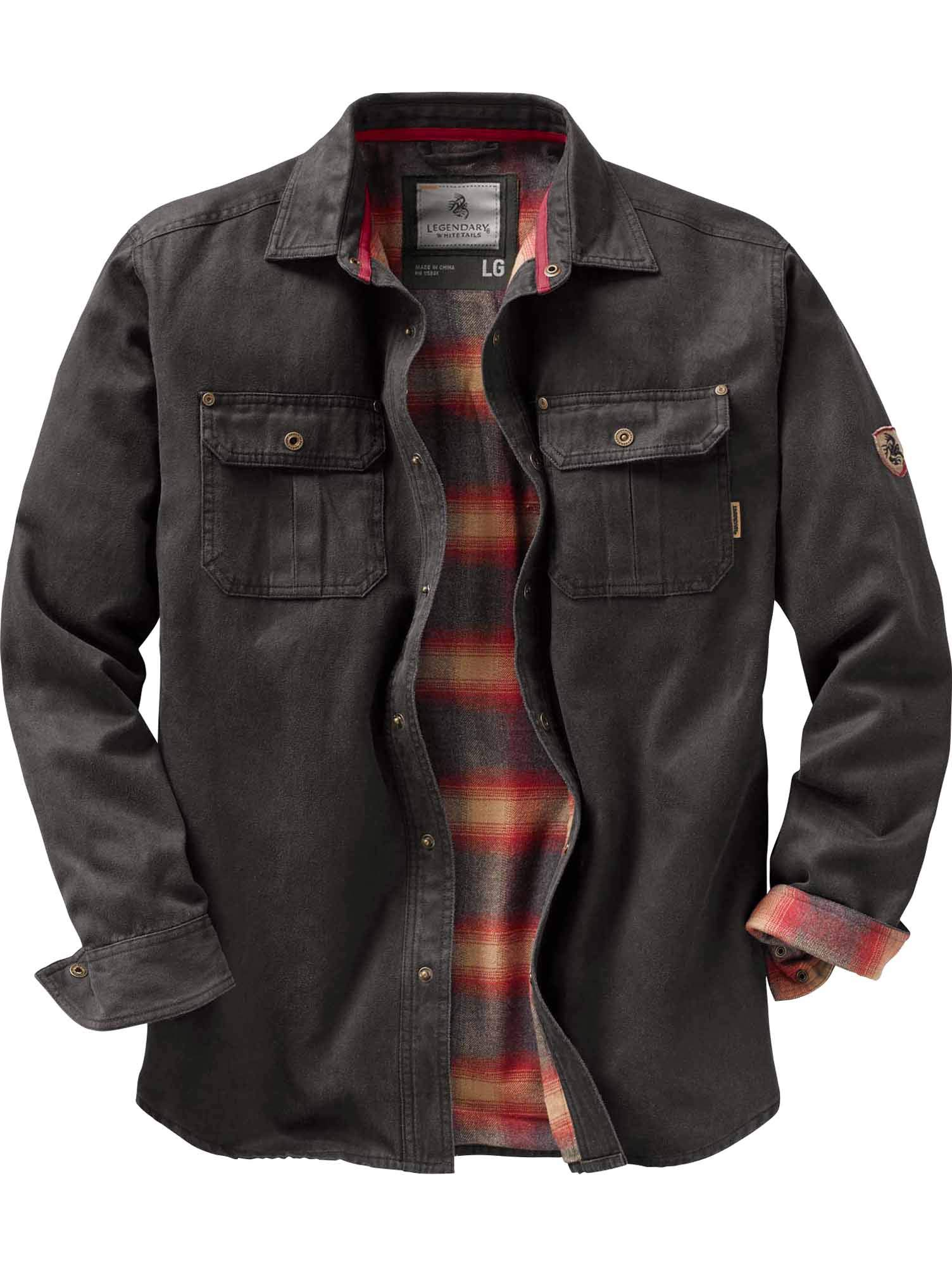 Legendary Whitetails Mens Journeyman Rugged Shirt Jacket, Tarmac, Large by Legendary Whitetails