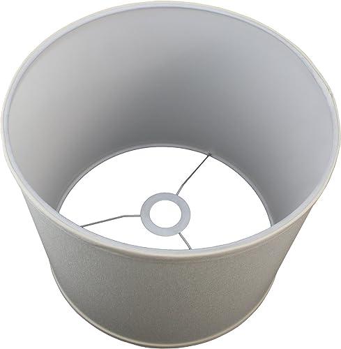 FenchelShades.com 12 Top Diameter x 12 Bottom Diameter x 10 Height Cylinder Drum Lampshade USA Made with European Attachment Chintz Cream