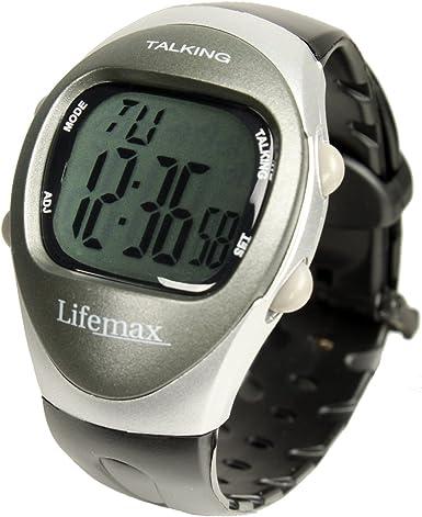 Lifemax 408 - Reloj unisex con correa de plástico negra (versión inglés)