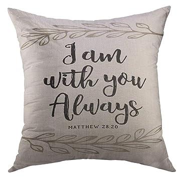 Amazon.com: Mugod - Funda de almohada decorativa, diseño ...