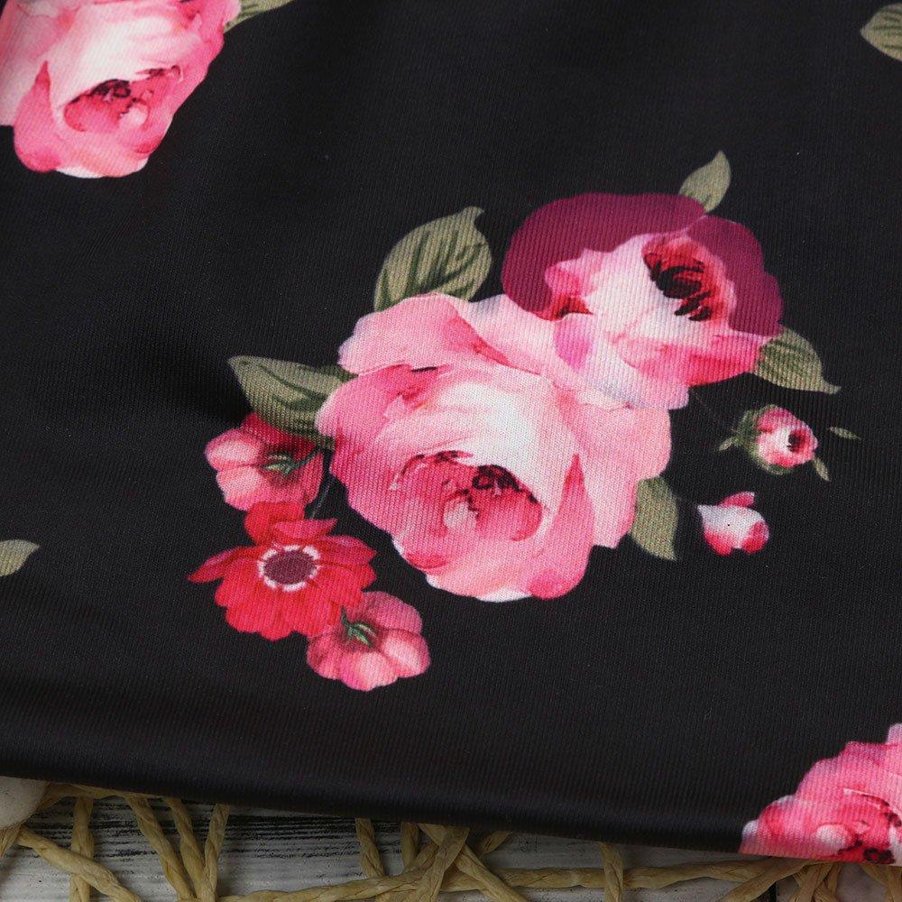Baby Girls Infant Summer Boho Floral Tassel Jumpsuit Romper+Headband Set Clothes 2Pcs