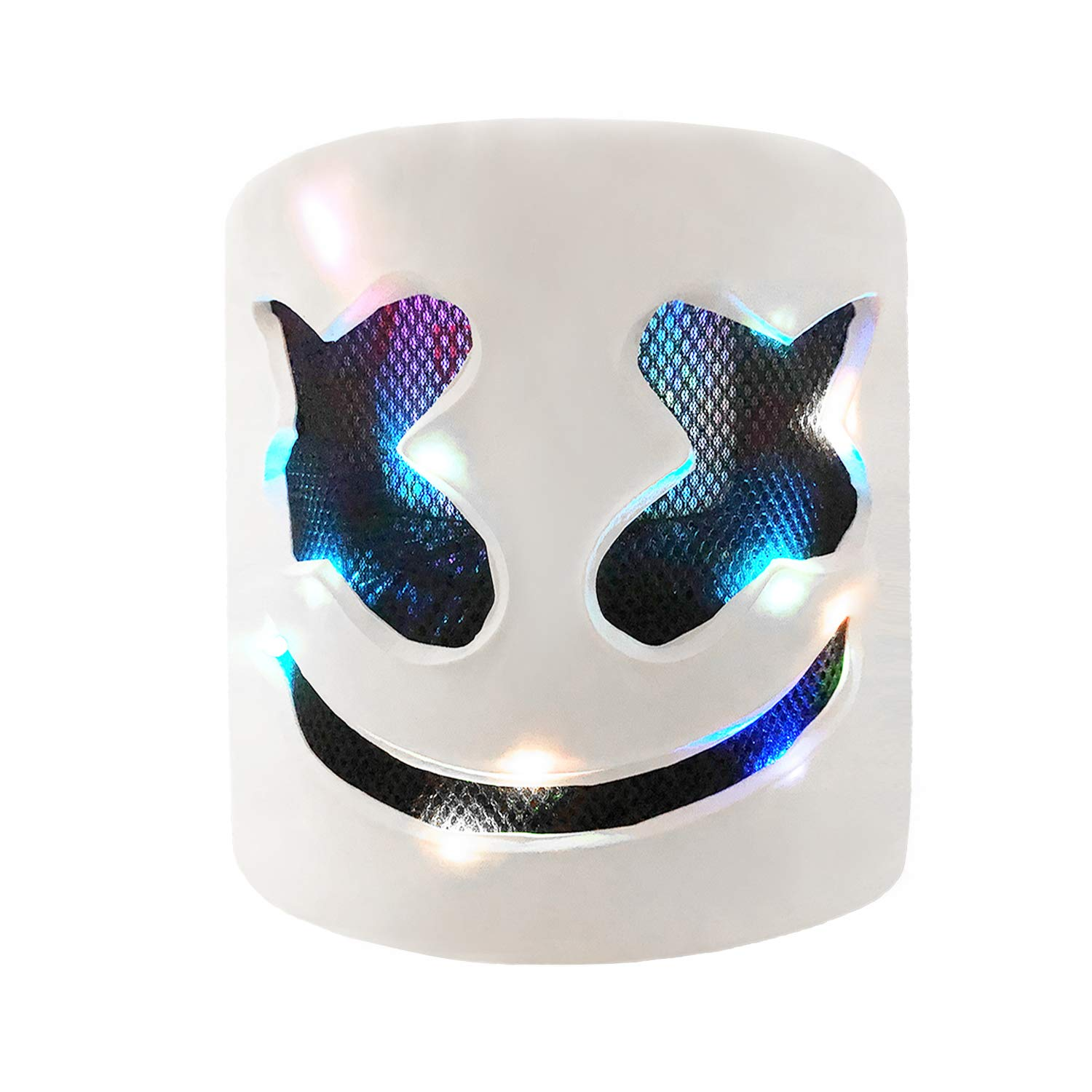 Funvolution DJ Helmet with LED 7 Color Light,DJ Mask for Kids and Adult,for Fans Meeting