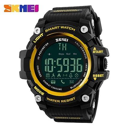 Cebbay Reloj Inteligente para Actividades al Aire Libre, Deportivo, Militar, Sumergible, cronógrafo