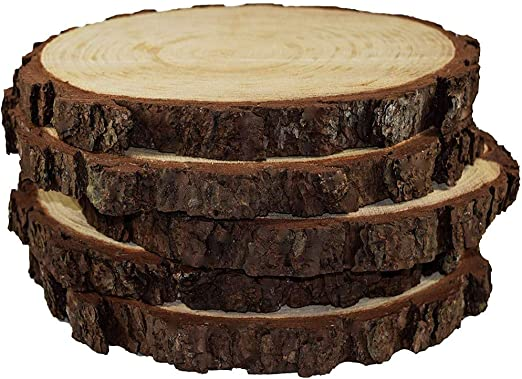 20x Wood Slice Tree Trunk Craft Rustic Wedding Centerpieces Table Decoration