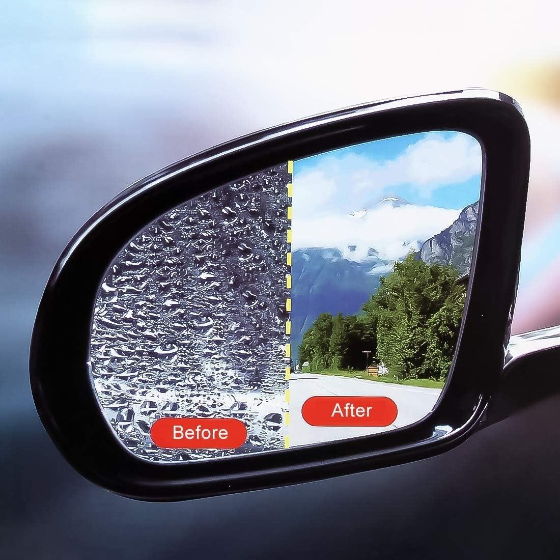 no brand Fen/être Autocollant de Voiture-Voiture Film de por Voiture Pet Miroir de Protection Fen/être Rearview Clair Anti-bu/ée Pluie /étanche Shield Film for Peugeot 206