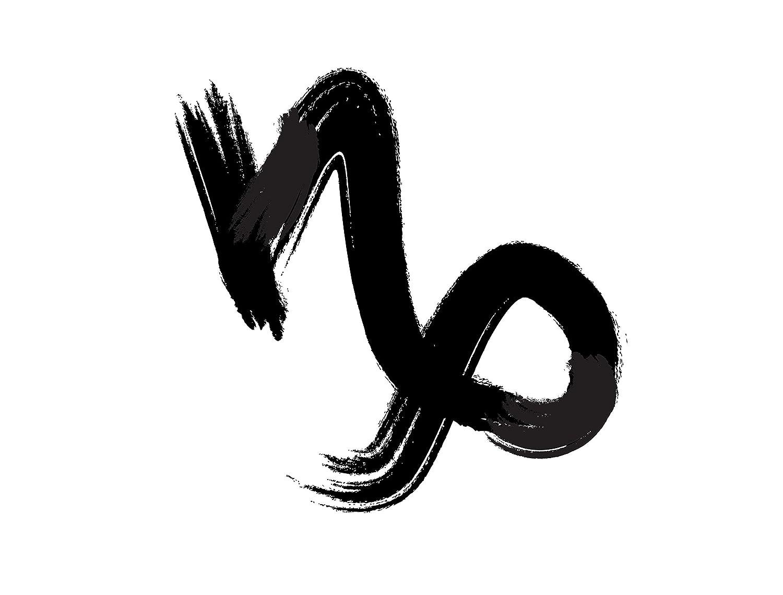 70b092ddb7bec Amazon.com : Zodiac Capricorn Sign Decor Temporary Tattoo - Cute Realistic  Black Body Art Stickers for Men, Women, Boys and Girls - Set of 2 Cool  Removable ...