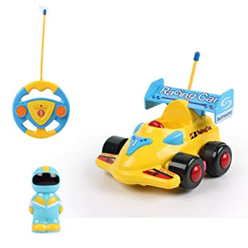 Vinsani My First Radio Remote Controlled Racing Car - Yellow  Amazon.co.uk   Toys   Games 49dba515f6c