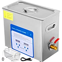 VEVOR 6L Professional Ultrasonic Cleaner 304&316 Stainless Steel Digital Lab Ultrasonic Cleaner with Heater Timer for…
