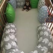 Amilian® Baby Nestchen Bettumrandung 210 cm Design21
