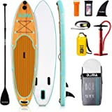 "DAMA 9'6""x30""x6"" Inflatable Stand Up Paddle Board, Yoga Board, Camera Seat, Floating Paddle, Double Action Hand Pump…"
