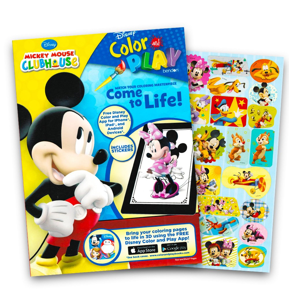 Amazon Mickey Mouse 144 Page Coloring And Activity Book With Over 30 Stickers Toys Games