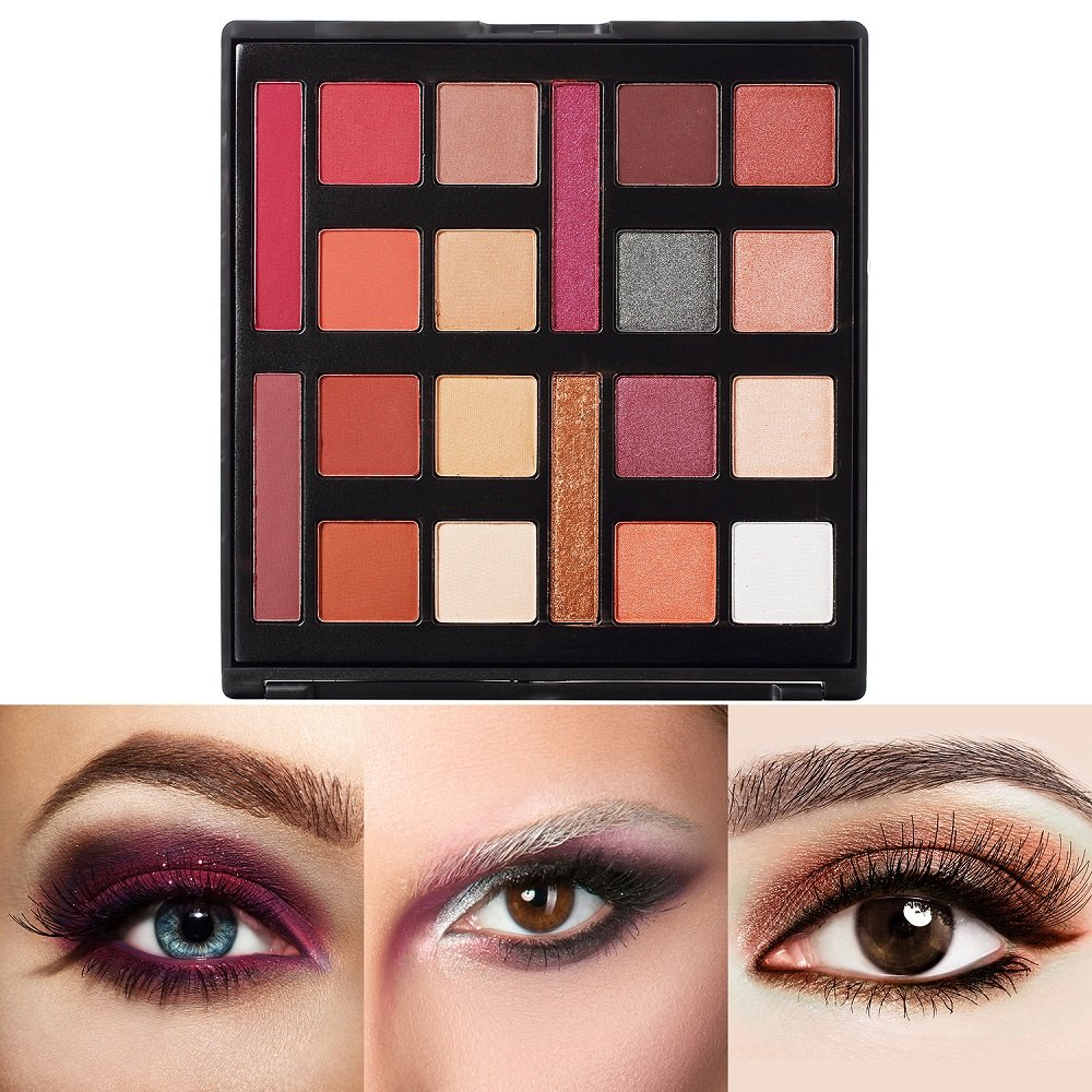 Pro Eyeshadow Palette, Valuemakers Shimmer & Matte Eye Palette-Waterproof Neutrals Cosmetics Make Up Tools Kit(20 Colours)