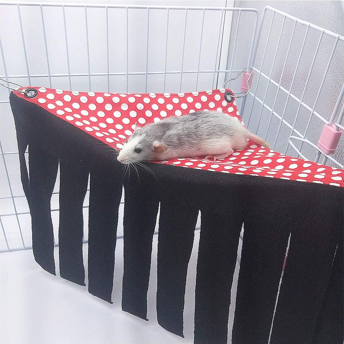 Guinea Pig Hideout Ferret Corner Fleece Forest Hideaway Hamster Hammock Sleeper Chinchilla Cage Toy House Hanging Bed for Gerbil Dwarf Rabbit Hedgehog /& Other Small Animals