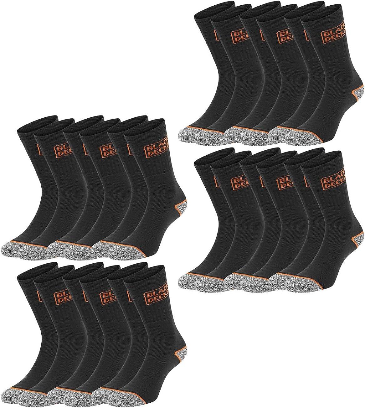 Blakläder Socken 2er-Pack DRY Arbeitssocken schwarz neon grün Workersocks Socks