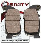 5. Sixity Front Ceramic Brake Pads 2004-2010 Harley Davidson XL1200C Sportster 1200 Custom Set Full Kit Complete