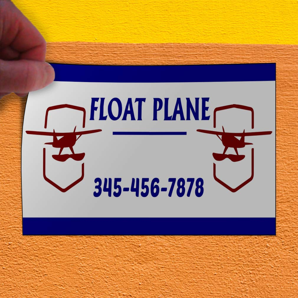 Custom Door Decals Vinyl Stickers Multiple Sizes Float Plane Phone Number Blue Cars /& Transportation Float Plane Outdoor Luggage /& Bumper Stickers for Cars Blue 54X36Inches Set of 5