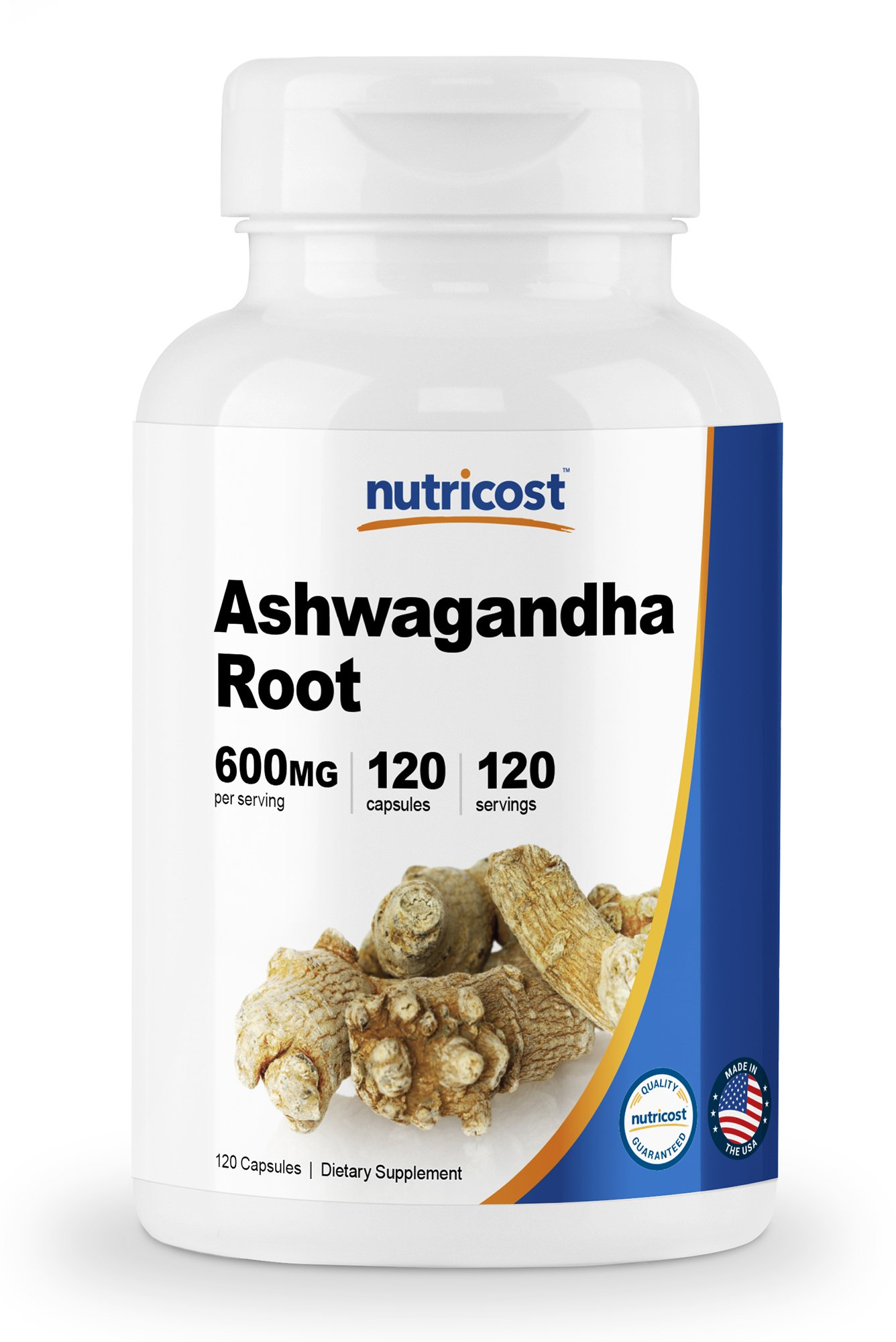 Nutricost Ashwagandha Herbal Supplement 600mg, 120 Capsules - Healthy Stress Response - Ashwagandha Root by Nutricost